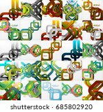 set of square backgrounds.... | Shutterstock .eps vector #685802920