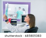 confident pleasant doctor... | Shutterstock . vector #685805383