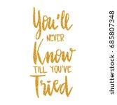 lettering words. you'll never... | Shutterstock .eps vector #685807348
