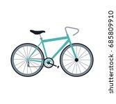 bicycle recreational transport...   Shutterstock .eps vector #685809910