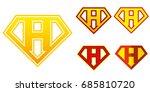 Super Hero Logo Letter H...