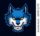 wolves sign and symbol logo... | Shutterstock .eps vector #685811170