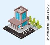 vector office isometric... | Shutterstock .eps vector #685814140