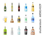 alcohol drinks beverages... | Shutterstock .eps vector #685814329