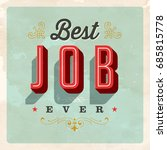 vintage style postcard   best... | Shutterstock .eps vector #685815778