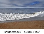 gray   grey day at the beach.   Shutterstock . vector #685816450