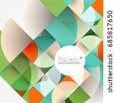 cut paper circles  mosaic mix... | Shutterstock .eps vector #685817650