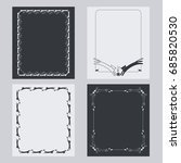 set of vertical frame with... | Shutterstock .eps vector #685820530