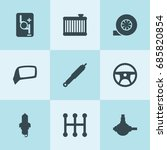 set of 9 part filled icons such ... | Shutterstock .eps vector #685820854