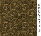 gold metal seamless texture... | Shutterstock . vector #685820890