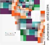 abstract blocks template design ...   Shutterstock . vector #685821094