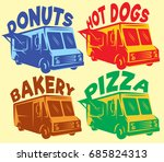 vector set of colored... | Shutterstock .eps vector #685824313
