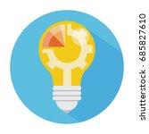 creative idea .concept of idea... | Shutterstock .eps vector #685827610
