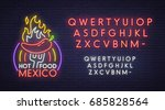 mexico bar neon sign  bright... | Shutterstock .eps vector #685828564