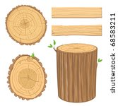 Set Of Wooden Materials   Cross ...
