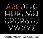 decorative sanserif font....   Shutterstock .eps vector #685833850