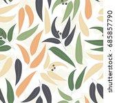 seamless floral pattern.... | Shutterstock .eps vector #685857790