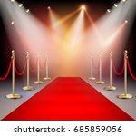 realistic red carpet in... | Shutterstock .eps vector #685859056