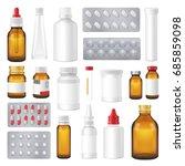 pharmaceutical packages...   Shutterstock .eps vector #685859098