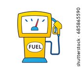 gas fuel pump isolated  petrol... | Shutterstock .eps vector #685865590