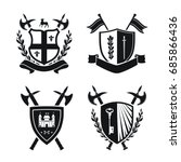 coats of arms   shields with... | Shutterstock .eps vector #685866436