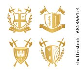 coats of arms   shields with... | Shutterstock .eps vector #685866454