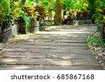 walk way in the garden   Shutterstock . vector #685867168