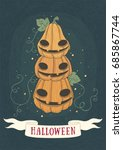halloween holidays hand drawn... | Shutterstock .eps vector #685867744