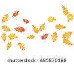 oak leaves flying confetti... | Shutterstock .eps vector #685870168