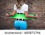 Girl In Sportswear With A...
