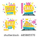 sale banners. bright and retro... | Shutterstock .eps vector #685885570