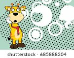 cute giraffe cartoon expression ... | Shutterstock .eps vector #685888204
