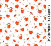 cute seamless pattern with...   Shutterstock .eps vector #685888546