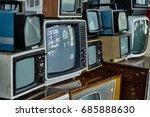 old vintage television set  | Shutterstock . vector #685888630