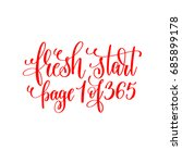 fresh start page 1 of 365   red ... | Shutterstock . vector #685899178