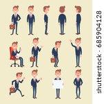 set of business man in... | Shutterstock .eps vector #685904128