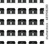 house seamless pattern vector... | Shutterstock .eps vector #685908280