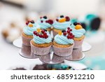 candy bar decorated by... | Shutterstock . vector #685912210