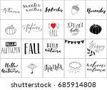 hand lettering autumn logos  | Shutterstock .eps vector #685914808