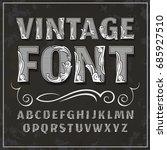 vector vintage font. retro font. | Shutterstock .eps vector #685927510