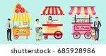 creative detailed vector street ... | Shutterstock .eps vector #685928986