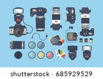 professional photographer... | Shutterstock .eps vector #685929529
