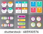 collection of infographic... | Shutterstock .eps vector #685930576