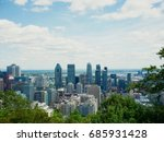 view of montreal from the mont ... | Shutterstock . vector #685931428
