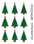vector christmas illustration | Shutterstock .eps vector #685932010