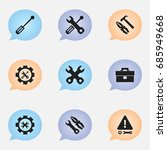 set of 9 editable service icons....