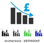 pound recession bar chart flat... | Shutterstock .eps vector #685960069
