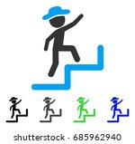 gentleman steps upstairs flat... | Shutterstock .eps vector #685962940
