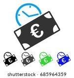 euro recurring payment flat... | Shutterstock .eps vector #685964359