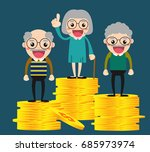 retirement money plan.... | Shutterstock .eps vector #685973974